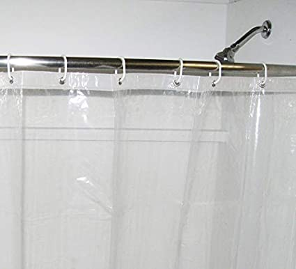 Charmant COB Products Clear Shower Curtain Liner | Short 66u0026quot; Length Stays Clean  Longer | 66u0026quot