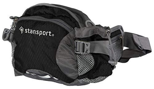 Stansport 5 L Waist Pack with Shoulder Strap, Black