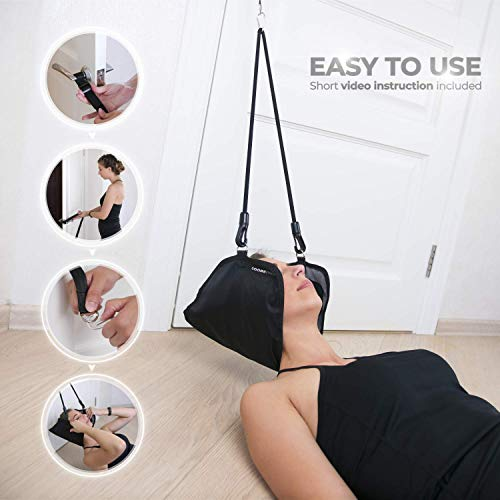 Coobe PRO Hammock for Neck - Portable Hammock for Cervical Traction and Relaxation, Easy to Attach to Any Door or Railing, Ideal for Chronic Neck and Shoulder Pain Relief by Coobe PRO (Image #2)