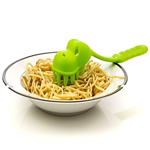 Funnytoday365 Newcomdigi Kitchen Accessories Dinosaur Pasta Noodles Spoon Spaghetti Fork For Kids Toddlers