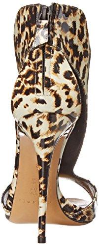 Casadei Womens Leopard T-Strap Dress Sandal Ottone 1TVSthj