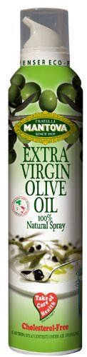 Mantova Extra Virgin Olive Oil Spray 8.5 oz. Spray Bottle - Manage Oil Amount - Great For Salads & Cooking, (Pack of 2)