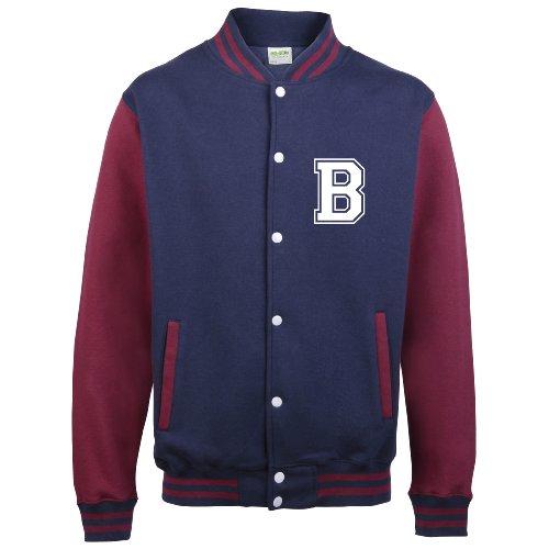 Disponibile Su college Diversi Da Con Burgundy Iniziale Baseball Sleeves Personalised In Solo Adulti Navy Varsity Colori giacca amp; Anteriori WPxOwEpq8f