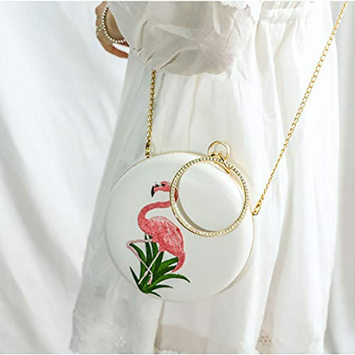 del del Bordado Femenino Bolso La Hombro De White White La Flamenco Pequeo Bolso Cena Diagonal Cadena De del SHMILY 4w0qZp0