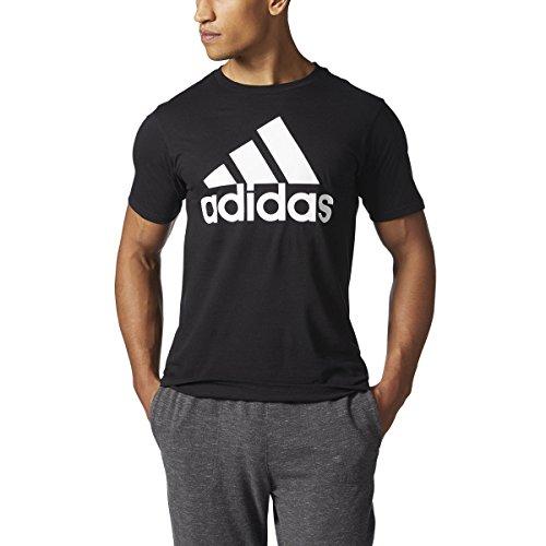 Adidas Mens Badge of Sport Classic Logo T-Shirt - Black/White (Small)