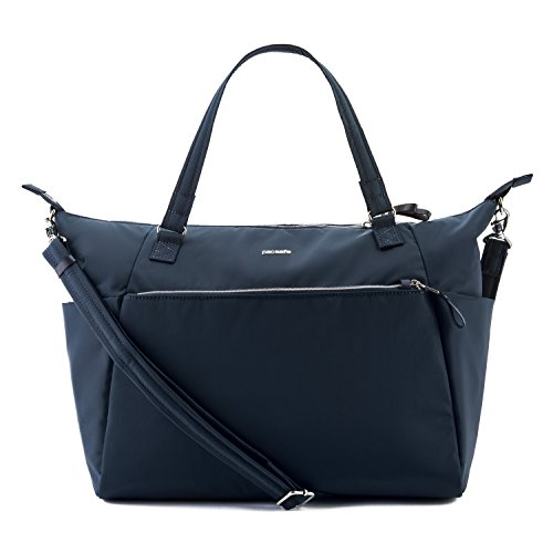 PacSafe Stylesafe anti-theft tote bag da palestra, 50 cm, 15 liters, Blu (Navy Blue 606) Blu (Navy Blue 606)