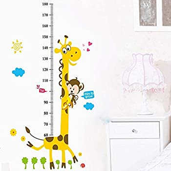 Solar System for Kids Girls Boys BoardGamec Baby Growth Chart and Luminous Planet Wall Stickers Measuring Rulers with Jumbo Elephant Animals