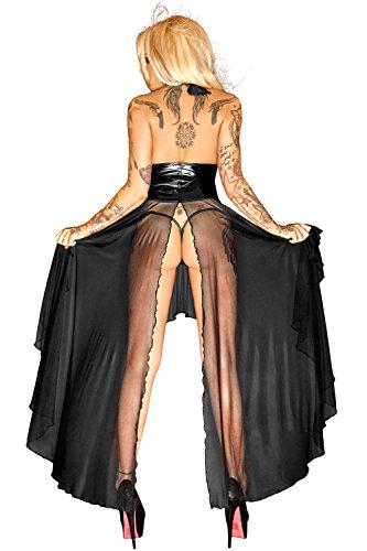 Damen Handmade Langes Schwarz Kleid Noir FnqOS5ww