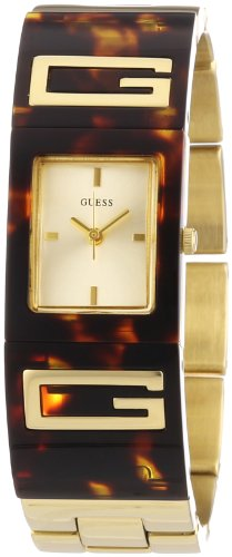 Gold Case Champagne Dial (GUESS Women's W12107L1 Flair Champagne Dial Watch)