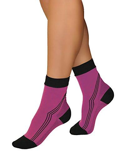 Tonus Activ Elastic medical compression ankle socks, unisex - 18-21 mmHg - 43-47 EU (pink/black)