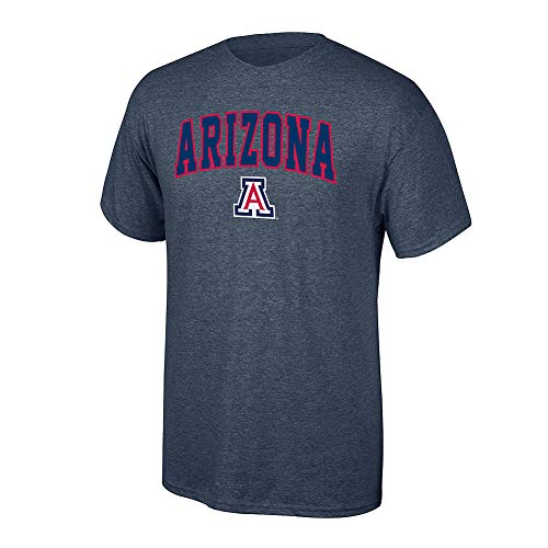 Elite Fan Shop NCAA Men's Arizona Wildcats T Shirt Dark Heather Arch Arizona Wildcats Dark Heather Medium ()