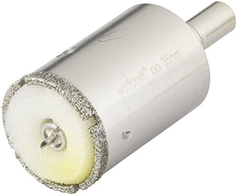 10 mm 10mm Wolfcraft 5918000 5918000-1 Broca de Diamante Ceramic para porcel/ánico con v/ástago Profundidad de Corte 30 mm diam