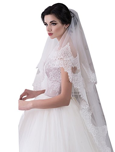 Bridal Veil Grace from NYC Bride collection (short 30'', white) by NYC Bride