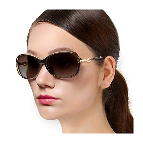 Protineff Small Frame Sunglasses for Women, Polarized 100% UV Protection, Sun Glasses with Fashion Rhinestone (Brown Frame/Brown Lens Classic Polarized Sunglasses)