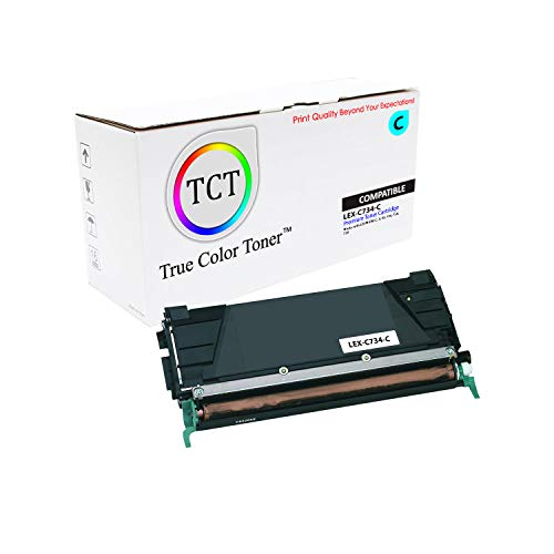 (TCT Premium Compatible Toner Cartridge Replacement for Lexmark C734 C734A1CG Cyan Works with Lexmark C734 C736 C738 X734 X736 Printers (6,000 Pages))