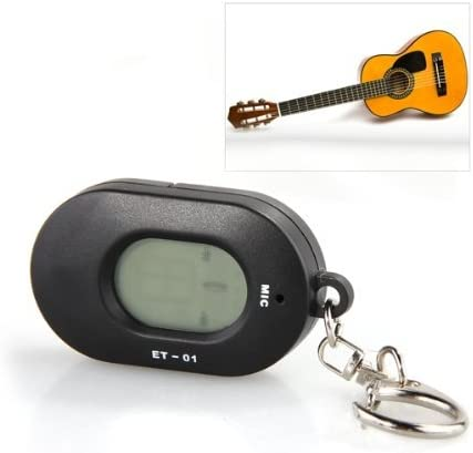 SODIAL(R) Afinador Metronomo Llavero LED Mini para Guitarra Violin ...