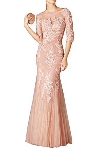 La Partykleider mia Spitze 2018 Rosa Langarm Abschlussballkleider Brau Promkleider Brautmutterkleider Etuikleider Abendkleider BCBwqrYx