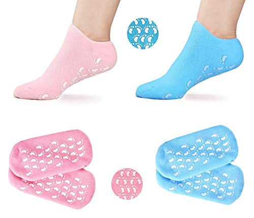 Moisturizing Gel Socks - Foot Moisturizing Socks for Dry Feet and Cracked Heel Spa Treatment, Relief Therapy Cracked Feet Repair with Moisturizer and Moisture Lotion Socks by INDIGO61