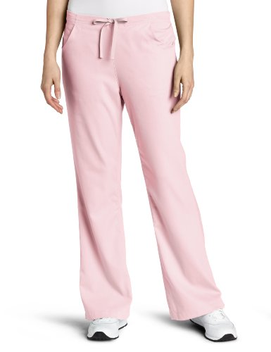 Carhartt Women's Scrubs Workflex 3 Pocket Flare Leg Pant, Petal, ()