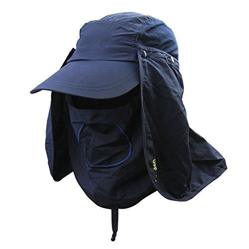 Clobeau Fishing Hats,Fisherman Hat Sun Hat 360° UV Protection Summer Sunhat Baseball Cap Men Women Sun Visor Cap Removable Neck Face Mask Head Flap Cover Hiking Beach Camping Boating Outdoor Gardener