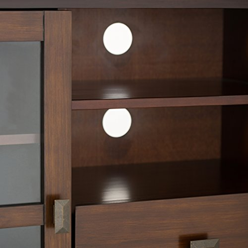 Simpli Home Artisan TV Media Stand for TVs up to 60'', Medium Auburn Brown by Simpli Home (Image #3)'