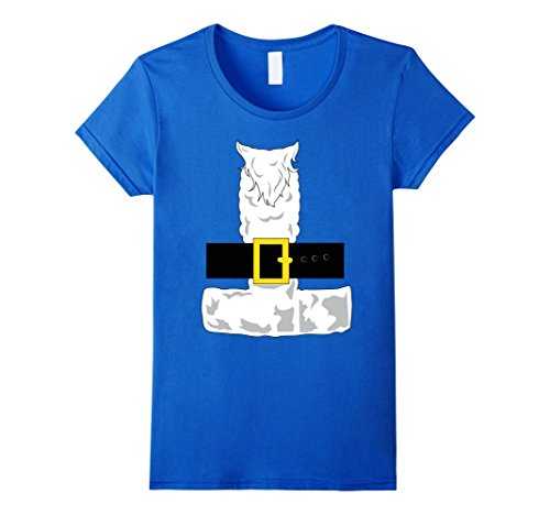 Womens SANTA CLAUS COSTUME Outfit Christmas Shirt | Xmas T-Shirt Small Royal Blue - Mr T Costume Ideas