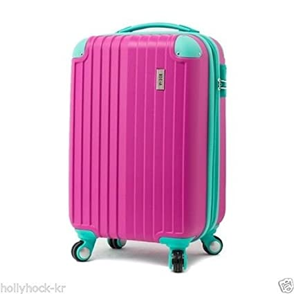 f54702482 Image Unavailable. Image not available for. Color: EDDAS Luggage Spinner  Wheel Vintage Hard Shell Suitcase ...