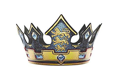 Liontouch Triple Lion Pretend Play Dress-up Crown, Gold/Black -