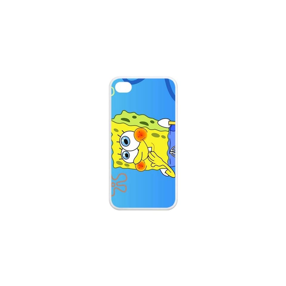 Personalized Cartoon SpongeBob SquarePants Protective Snap on Cover Case for iPhone 4/4S SS307