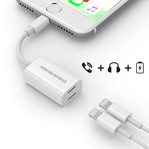 dual lightning adapter for iphone 7 7 plus wofalodata. Black Bedroom Furniture Sets. Home Design Ideas