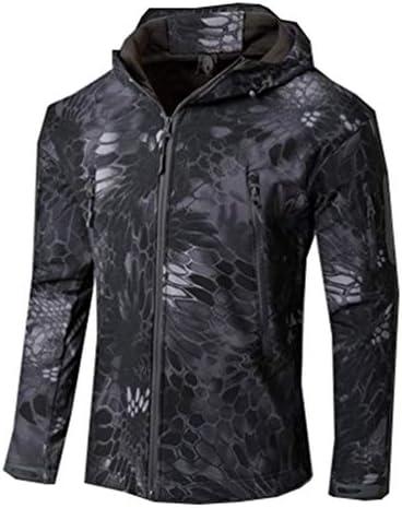 ESFJCOATS Jacket Men Waterproof Camouflage Windbreaker Hiking Hunting Coat Military Jacket Black Python 5XL