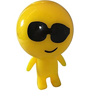 Light Up Emoji Emote Emoticon Sunglasses Face Man Buddy Decoration
