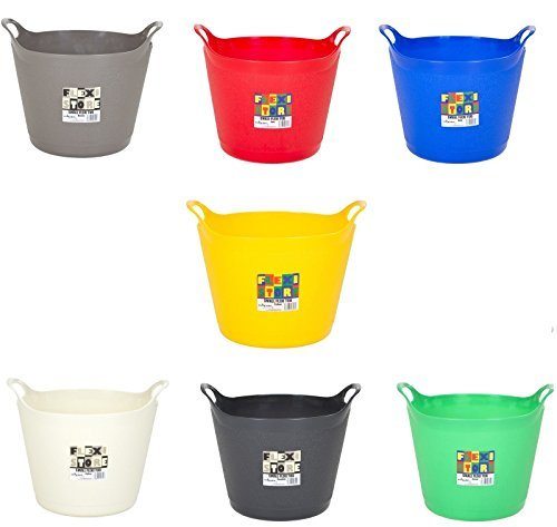 Flexi Tub Storage Bucket Flexible Garden Container 40 Litre, 25 Litre & 15 Litre Capacity Assorted Colour (40 Litre) by Wilsons Direct