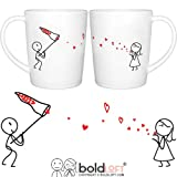 BOLDLOFT Catch My Love His and Hers Coffee Mugs- Matching Couple Mugs Set, Couples Gifts, Anniversary Gifts for Him, His and Hers Gifts, Birthday Gifts for Him, Boyfriend Gifts, Husband Gifts
