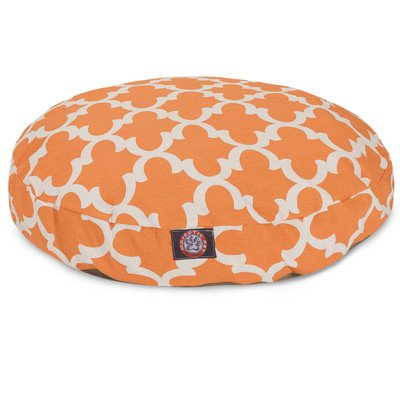 Fashion Plush Pet Beds (Peach Trellis Large Round Indoor Outdoor Pet Dog Bed With Removable Washable Cover By Majestic Pet)