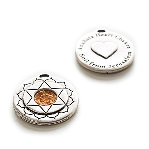 Sale Jerusalem Holy Land Soil Embedded In An Authentic Antique Silver Hand Made By The-Story-Within | Round Pendant Magen David as the Heart Chakra | As Seen On TV One Of A Kind Gift