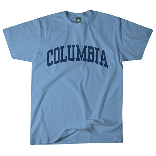 Columbia University T-Shirt by Ivysport – Classic Logo, 100% Cotton, Light Blue, Short Sleeve T-Shirt