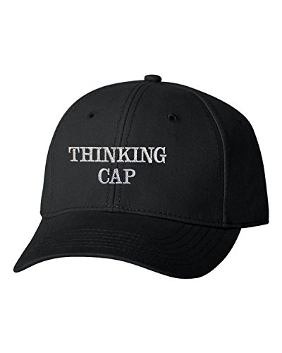 Go All Out Adjustable Black Adult Thinking Cap Embroidered Dad Hat Structured Cap -
