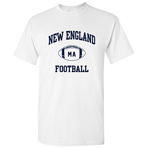 New England Classic Football Arch Basic Cotton T-Shirt - 2X-Large - White