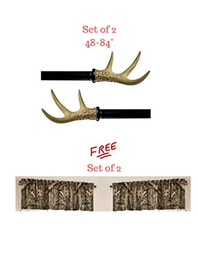 Better Homes and Gardens* Set of 2 Antler Drapery Rod Set, Oil-Rubbed Bronze (48-84) with Free! from Better Homes and Gardens*