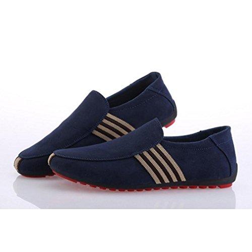 Zapatos Zapatos Zapatos De Hombres Guisantes Azul Zapatos Conducción De De Hombre Respirables Juleya Mocasín BwIRZq0R