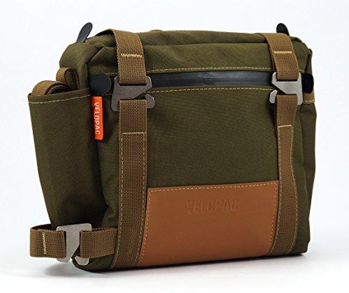 Velopac 4L Bicycle Pannier Bike Shoulder Bag For Frame (Moss Green/Brown)