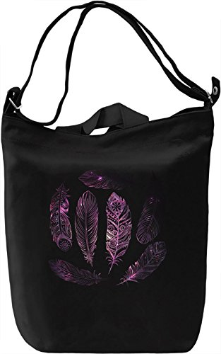 Galaxy Feathers Borsa Giornaliera Canvas Canvas Day Bag| 100% Premium Cotton Canvas| DTG Printing|