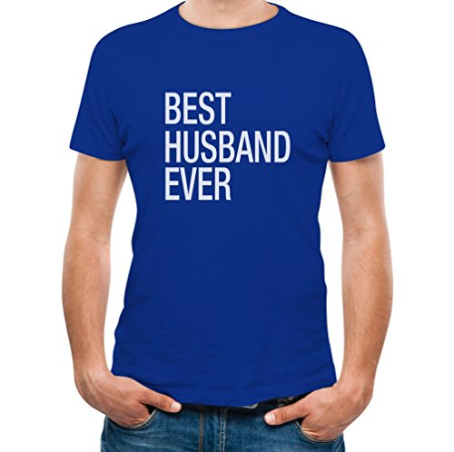 TeeStars - Gift for Father - Best Husband Ever Married T-Shirt XXXX-Large Blue