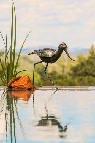 beautifully hand made large varnished RSPB Metal walking Avocet garden Sculpture – part of the hand crafted TILNAR fair…