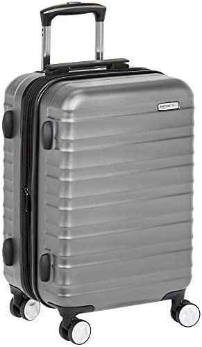 Amazon Basics Premium Hardside Spinner Luggage with Built-In TSA Lock - 21-Inch Carry-on, Grey