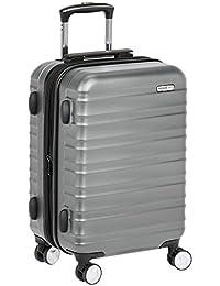 AmazonBasics, Maleta rígida Spinner, 51 cm, Carry-on, Gris