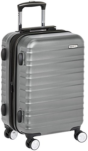 AmazonBasics Premium Hardside Spinner Luggage with Built-In TSA Lock - 20-Inch Carry-on, Grey