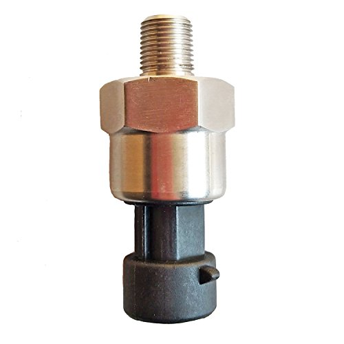 (Mover Parts 1000psi DC 5V NPT1/8 Stainless Steel Pressure Transducer or Sender for Oil Fuel Air Water Gas)