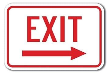 Amazon.com: – signo regalo enter-exit signos – Señal de ...